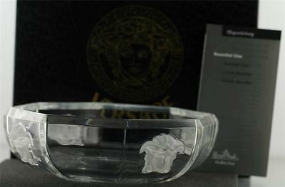 AUTHENTIC VERSACE by Rosenthal Crystal Glass Medusa Clear Bowl in Box