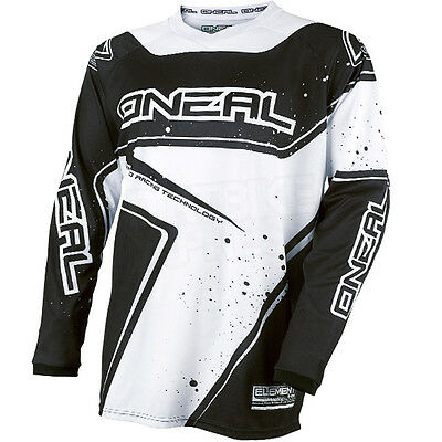 "New 2017 Oneal Element Motocross Jersey Racewear Black White Large 44"" Chest"