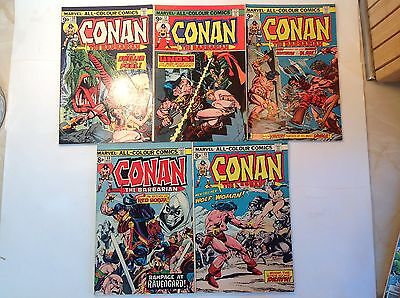 Marvel - Conan The Barbarian x 5. Lot 3.