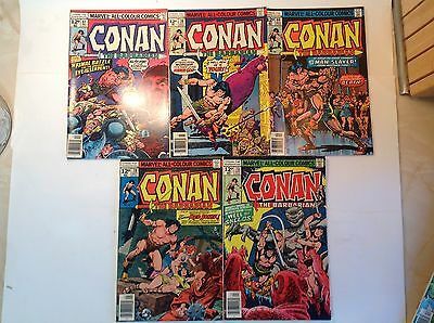 Marvel - Conan The Barbarian x 5. Lot 2.