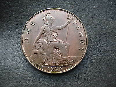 1926 Penny. George V - High Grade One Penny Coin.