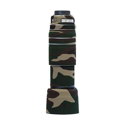 LensCoat Cover for Canon 100-400mm f/4.5-5.6 IS II Lens, Forest Green Camo