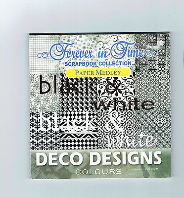 forever in time scrapbook collection paper medley black and white