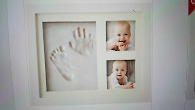 Charming Baby Handprint and Footprint Frame Package  Non Toxic and Safe Clay