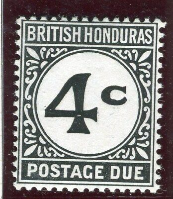 BRITISH HONDURAS;  1923-64 early Postage due issue Mint hinged 4c. value D3c.