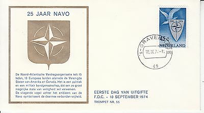 Navo Nato 1974 The Netherlands FDC trompet #55 army