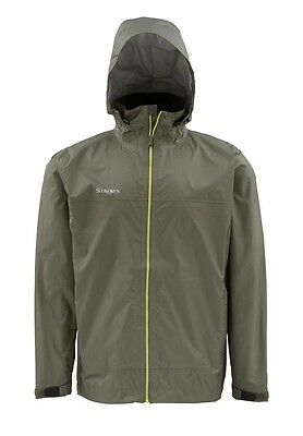 Simms HYALITE Rain Shell Jacket ~ NEW Olive ~ Large ~ CLOSEOUT