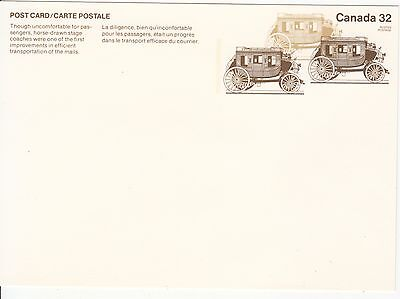 Diligence Stage Coach Canada postal stationary 32 ct  Voitures Coches