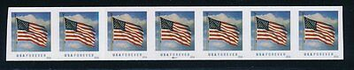 Usa #5052 Error Imperf Strip Of 7 With Plate # B11111