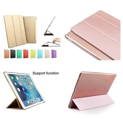 Smart Magnetic Stand Case Cover for Apple iPad 3 Air 2 Mini 4 Pro 9.7 Gold Black