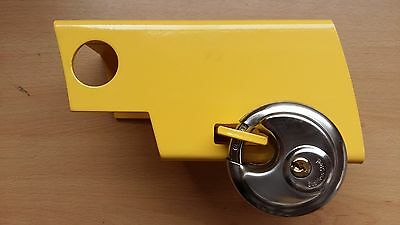 Hitch Security Lock Withy 70mm Discus Padlock Yellow Strong Durable Great Value!