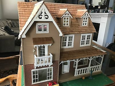 Large doll house hand made Victorian style need TLC