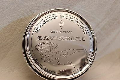 SAVINELLI ENGLISH MIXTURE Tabakdose, 925 Silber, Neu, Handmade by DAKOTA