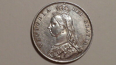 1887 Half-Crown.Victoria 1837-1901. Jubilee Head.Very High Grade.British Milled.