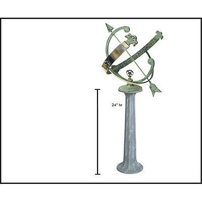 Rome Industries Pillar Cast Iron Pedestal for 8 10 and 12 Globes and Sundials