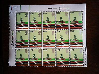 GB mint and unmounted 15 Coal - Modern Pithead stamps 1978