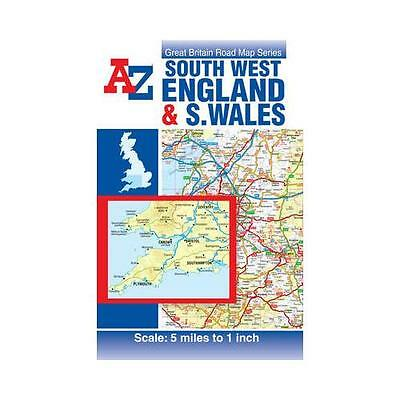 South West England & South Wales Road Map by Geographers' A-Z Map Co Ltd...