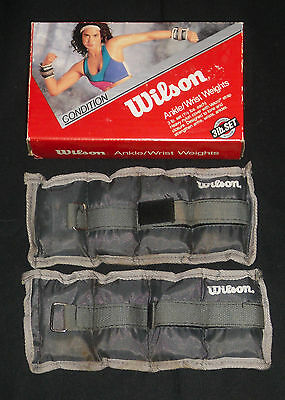 Wilson Ankle / Wrist Weights 3 Lb Set 1 1/2 Pounds Each