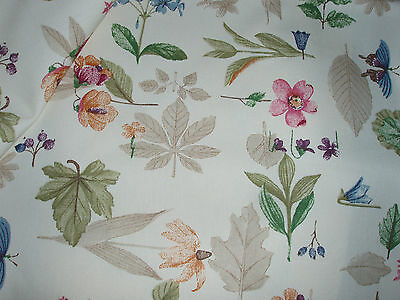 "Longaberger fabric Botanical Fields 1 yard cut 54"" wide Retired"