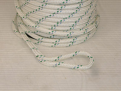 """wire pulling rope 1/2"""" x 300' doublebraid Polyester 6"""" eye splice each end  USA"""