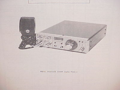 1976 Pace Cb Radio Service Shop Manual Model Sidetalk 1000M (Late Production)