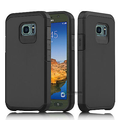 For Samsung Galaxy S7 active Case Slim Hybrid Shockproof Hard Rubber Armor Cover