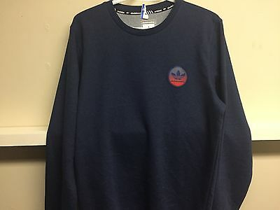 Adidas Skateboarding Sweatshirt Navy Blue New Sz M