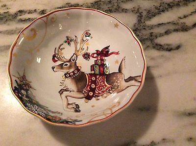 24 Oz. Williams Sonoma 'Twas The Night Before Christmas Reindeer Serving  Bowl