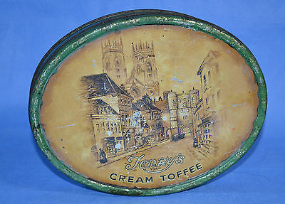 Vtg Terry's York Cream Toffee Tin/made In England/terry And Sons