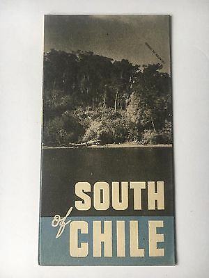 """Vintage ca. 1930s """"South of Chile"""" Travel Brochure Illustrated"""