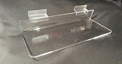 "NEW SLATWALL 10"" x 4""CLEAR ACRYLIC SHOE DISPLAY SHELF 20 pack Great Quality"