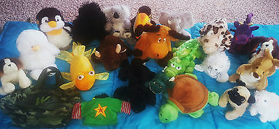 WEBKINZ & LIL'KINZ Lot of 18 Plush Animals with Carry Case Pet Carrier & EXTRAS