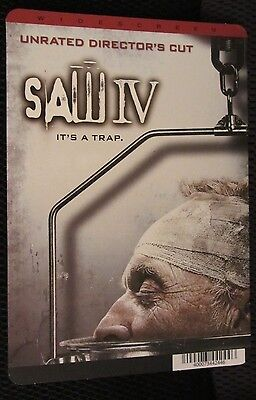 SAW IV movie backer card JIGSAW KILLER - this is NOT a movie