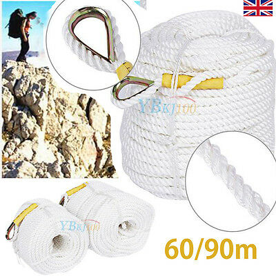 60/90M Tree Rock Climbing Safety Sling Rappelling Rope Auxiliary Cord Equipment