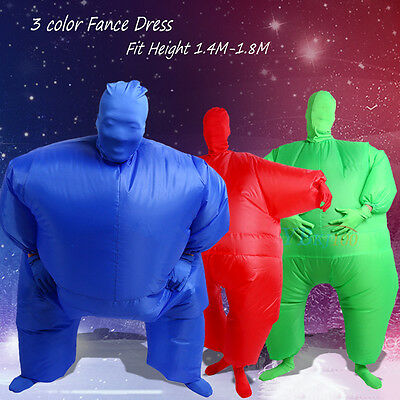 Novelty Inflatable Chub Suit Fancy Dress Party Halloween Costume Jumpsuit Outfit