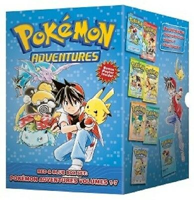 POKEMON ADVENTURES RED & BLUE BOX SET GN TPB Viz Media Manga Collects Vol 1-7 TP
