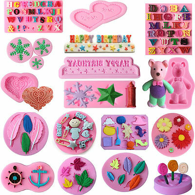 50 Design Silicone Fondant Mould Candy Cake Decorating Chocolate Baking Tools