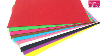 10Pcs A4 Felt Sheet Mix Color Paper Fabric Velvet Paper Arts and Craft Works CH5