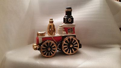 1971 Empty Decanter Vtg Ezra Brooks Steam Train Heritage China Bourbon Whiskey
