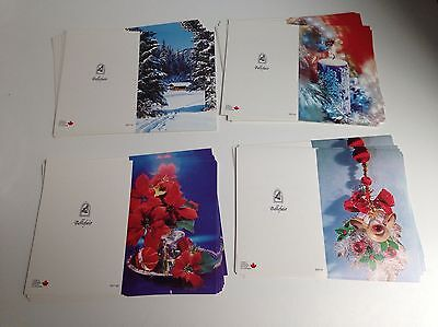 Lot of 40, Vintage Christmas Cards, 4 Designs, Unused Unfolded, NEW OLD STOCK!