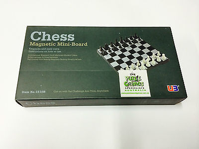 "Chess 7"" Magnetic Game Board Travel Puzzle Novelty Toy Kids Brain Hobby Mind"
