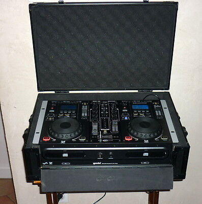 Gemini CDM-3600 professional platine dj workstation double cd with case