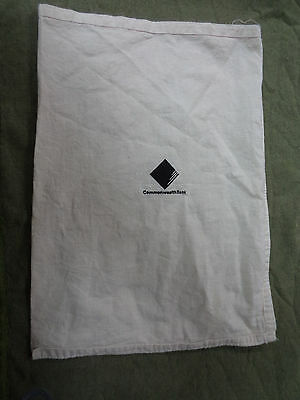 #d288. Commonwealth Bank  Cotton  Bank  Money Bag