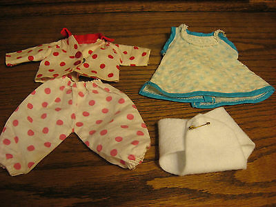 50's Vogue Ginnette size red polka dot PJ's pajamas dress diaper no tags