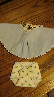 50's Vogue Ginnette blue sundress tagged and rosebud diaper