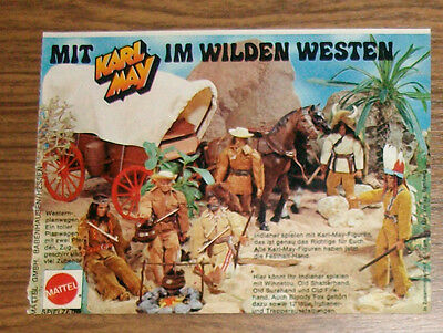 Seltene Werbung BIG JIM Mit Karl May in den Wilden Westen Winnetou 1977