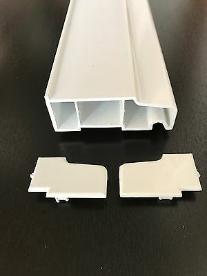 WHITE UPVC WINDOW DOOR EXTERNAL 85mm WINDOW CILL SILL VARIOUS LENGTHS INC ENDS