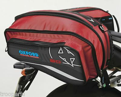 Oxford X50 Panniers Motorcycle Luggage 50Ltrs Red Ol101