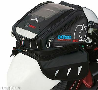 Oxford Luggage X30 Strap-On Motorcycle Tank Bag Black #ol166