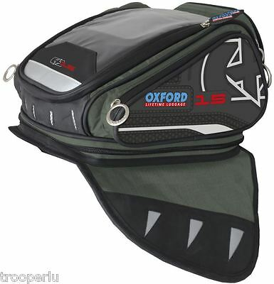 Oxford Luggage X15 Magnetic Motorcycle Tank Bag Anthracite #ol213